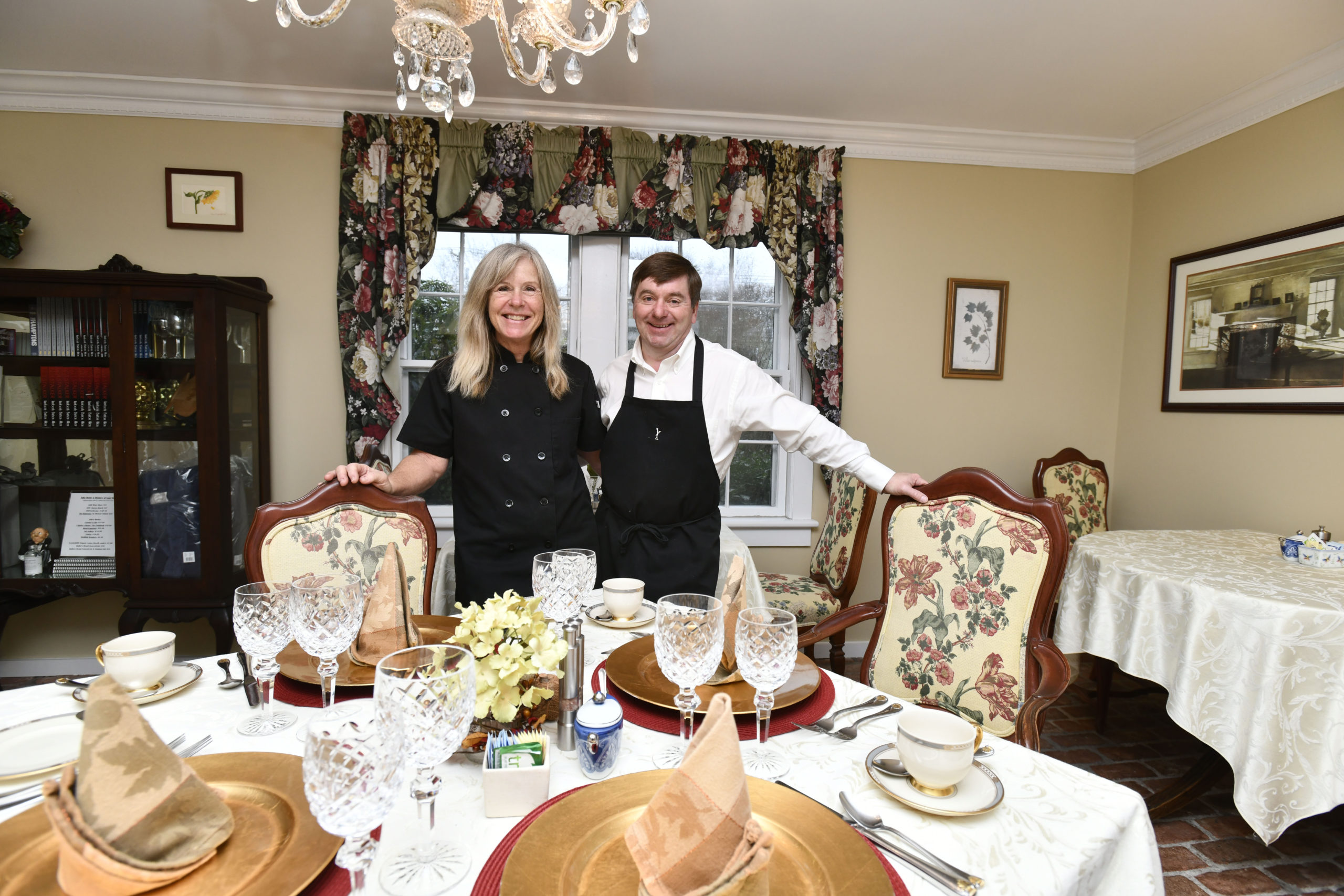 Chris and Kimberly Allen at A Butler's Manor in Southampton Village. DANA SHAW