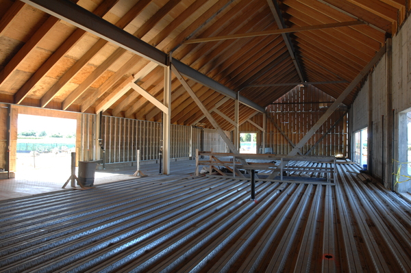 The progress on the interior of the new Parrish Art Museum.