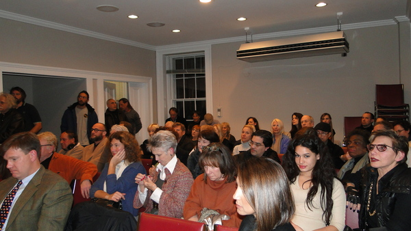 A large crowd of mostly art fans turned out in Sag Harbor Tuesday night for a hearing on the