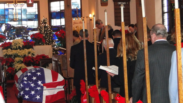 Mourners packed St. John's Episcopal Church in Southampton Village Saturday morning to pay their respects to the late Bil