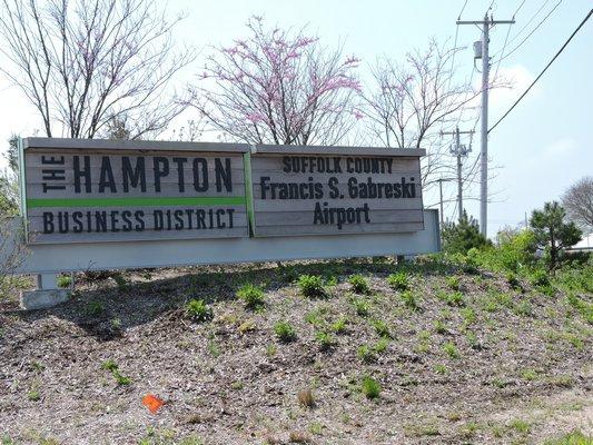 The Hampton Business District at Gabreski sits just off Old Riverhead Road in Westhampton Beach. ELSIE BOSKAMP