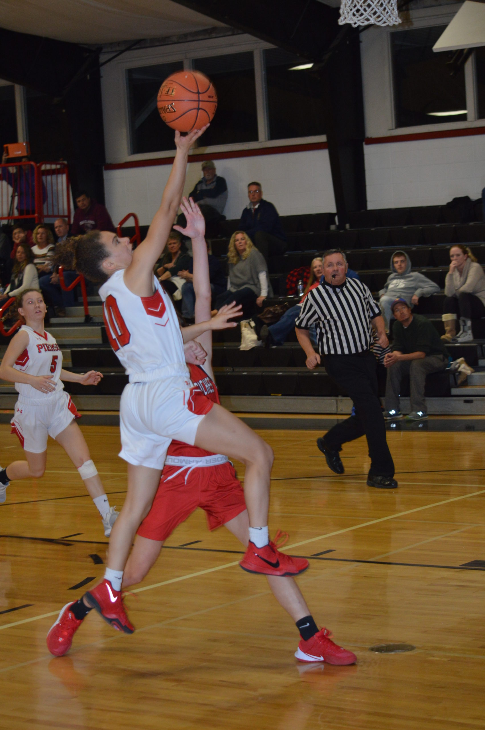 Pierson's Chastin Giles led all scorers with 21 points in the Lady Whalers' win over Center Moriches on Friday.