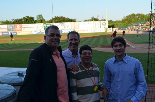 Children from a Commack shelter were able to attend the Long Island Ducks game Monday night through Seats of Dreams. Alexa Gorman