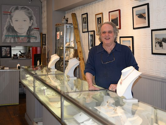 Lee Elliot of Lee Jewelers showcasing some of his merchandise. KYRIL BROMLEY