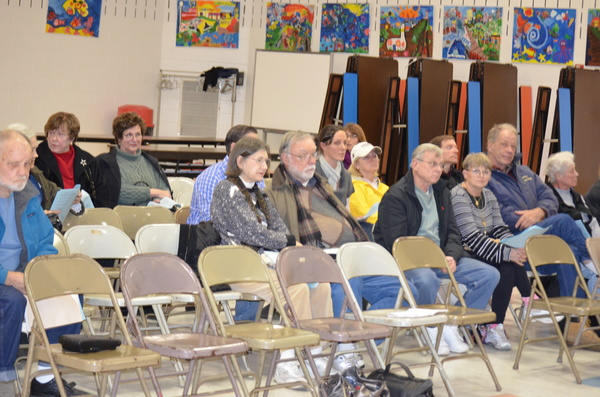 East Quogue community members at the Tuesday