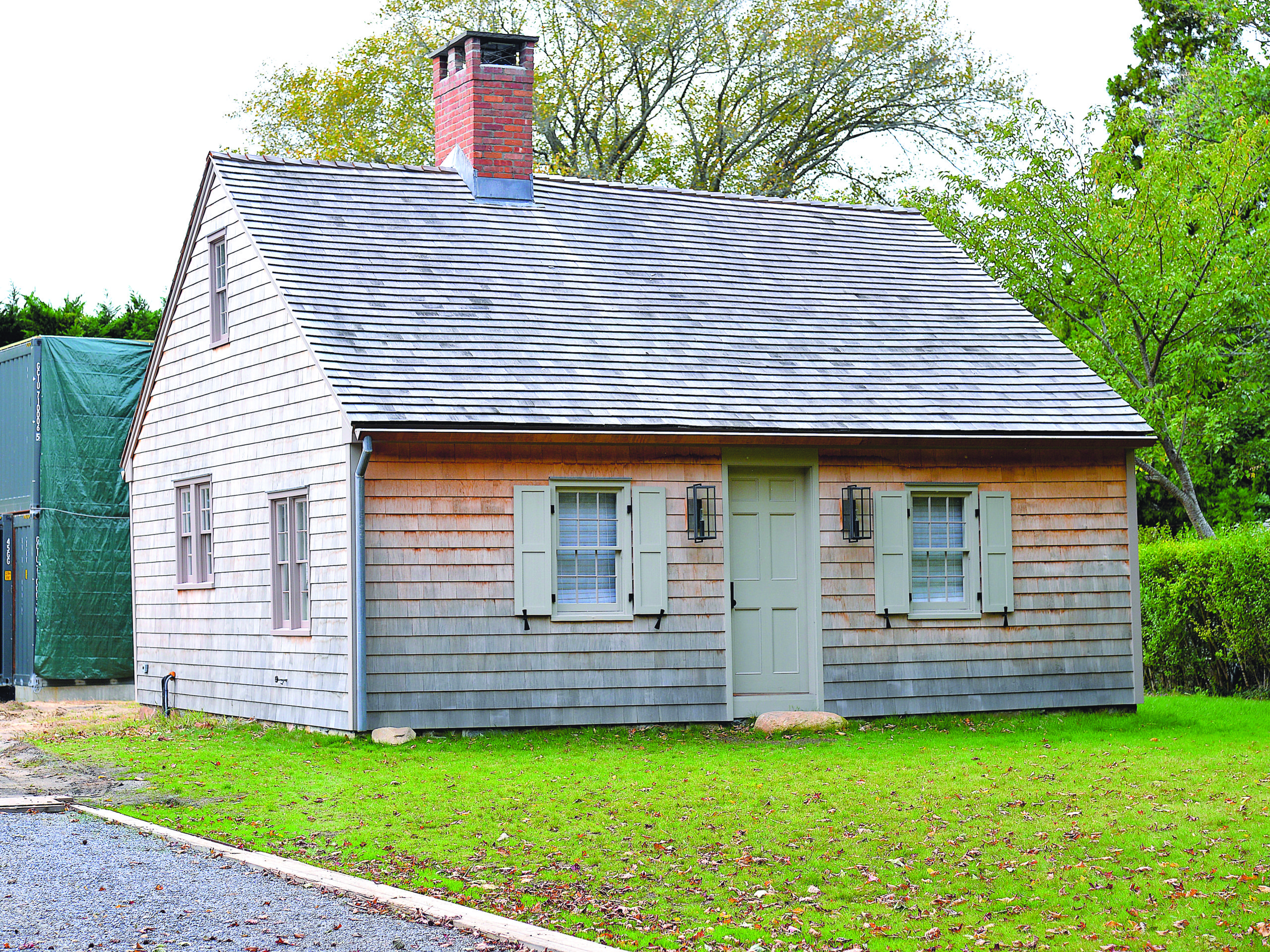 October 17 -- It was six years ago when East Hampton Village adopted its timber-frame landmarks law to protect historic buildings and incentivize their restoration. Now, the village is seeing the fruits of that legislation — the first of its kind. The Hiram Sanford House, a Cape Codstyle dwelling at 13 Egypt Lane that was once the home of the man who ran the Pantigo Windmill, has been restored, with its surviving historic details preserved. The work has been done in conjunction with the ongoing construction of a modern home on the same piece of property.