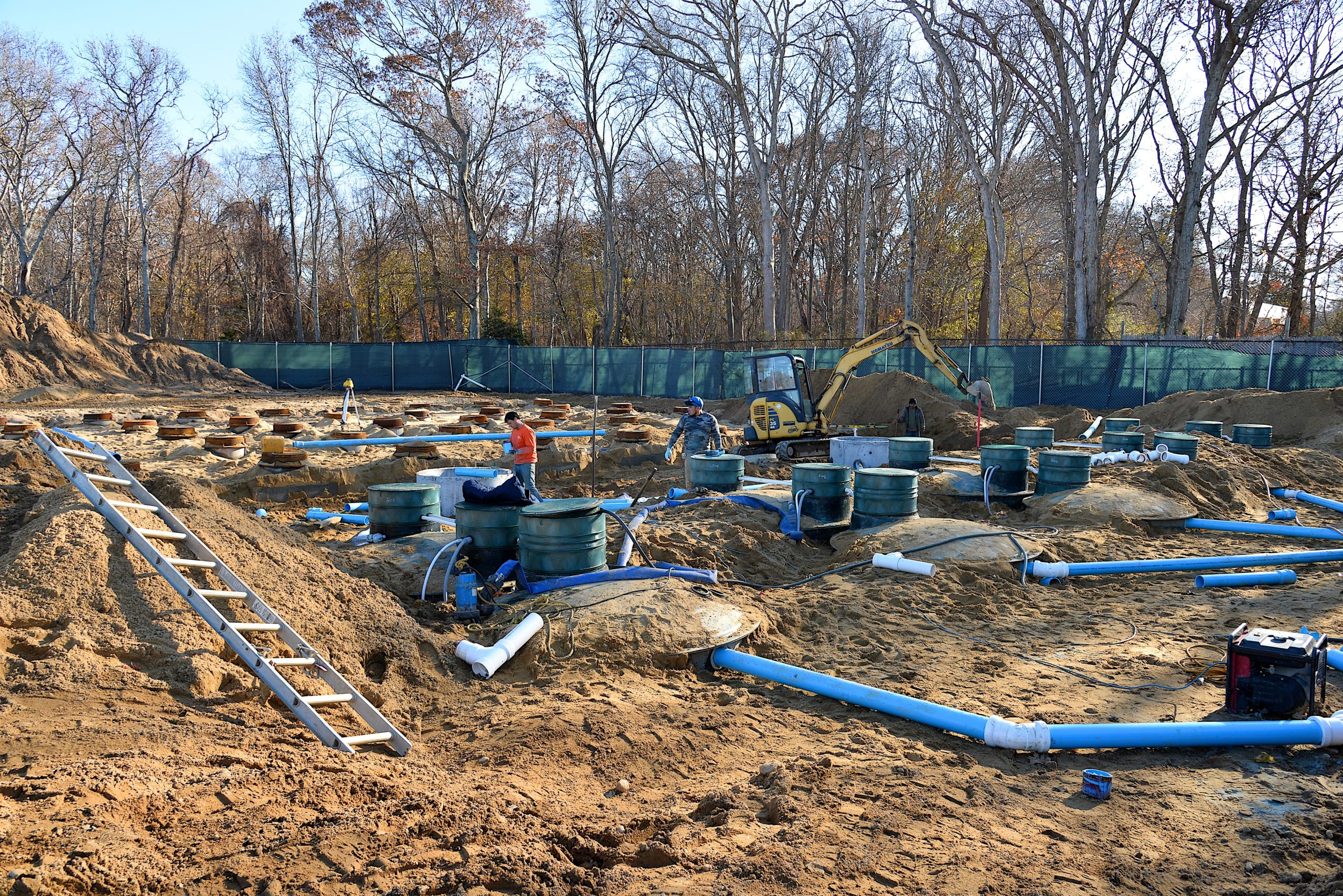 The Springs School is in the midst of a $1.6 milion replacement of its septic system, which will reduce nitrogen in effluent by more than 90 percent.
