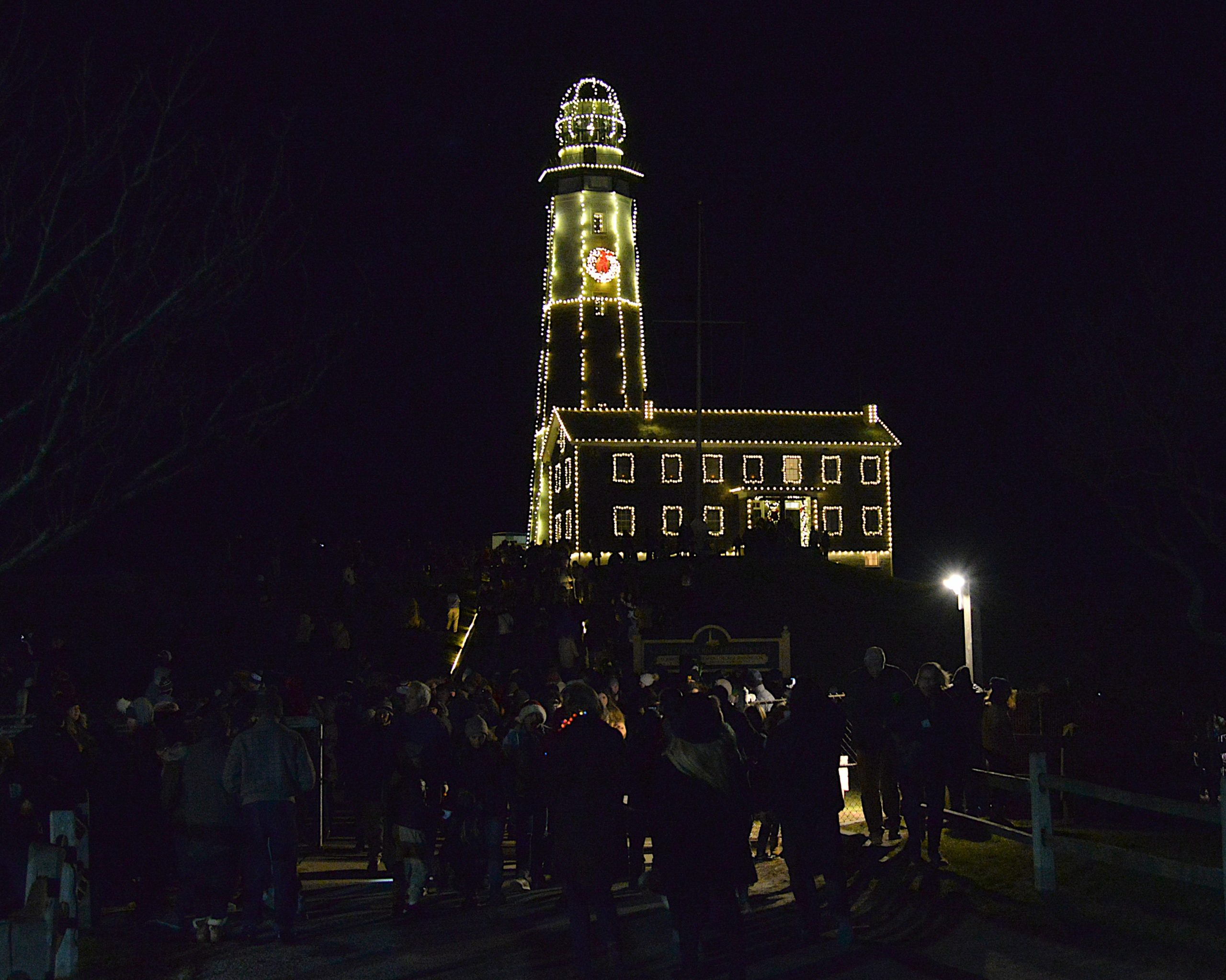 The Montauk Lighthouse was lit for the season on Saturday. KYRIL BROMLEY