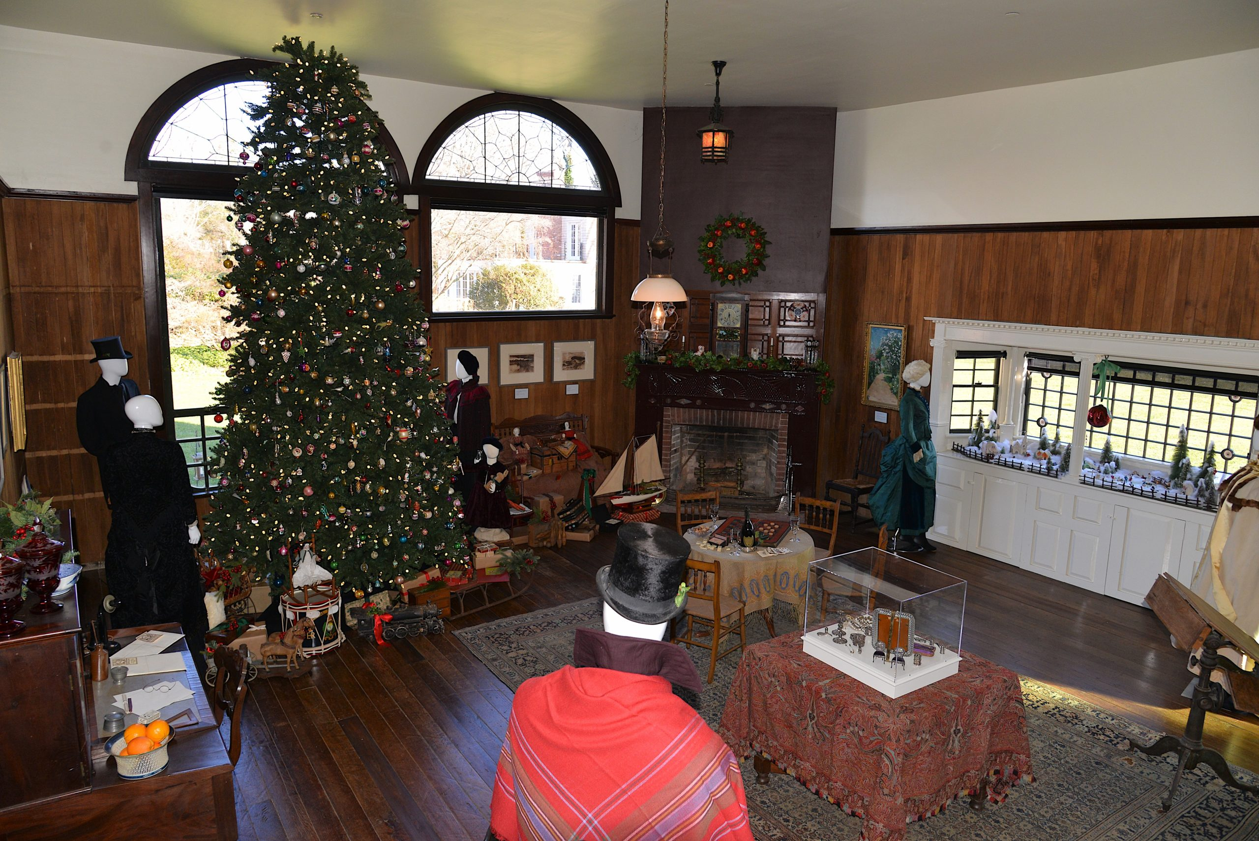 Christmas at the Thomas Moran House.