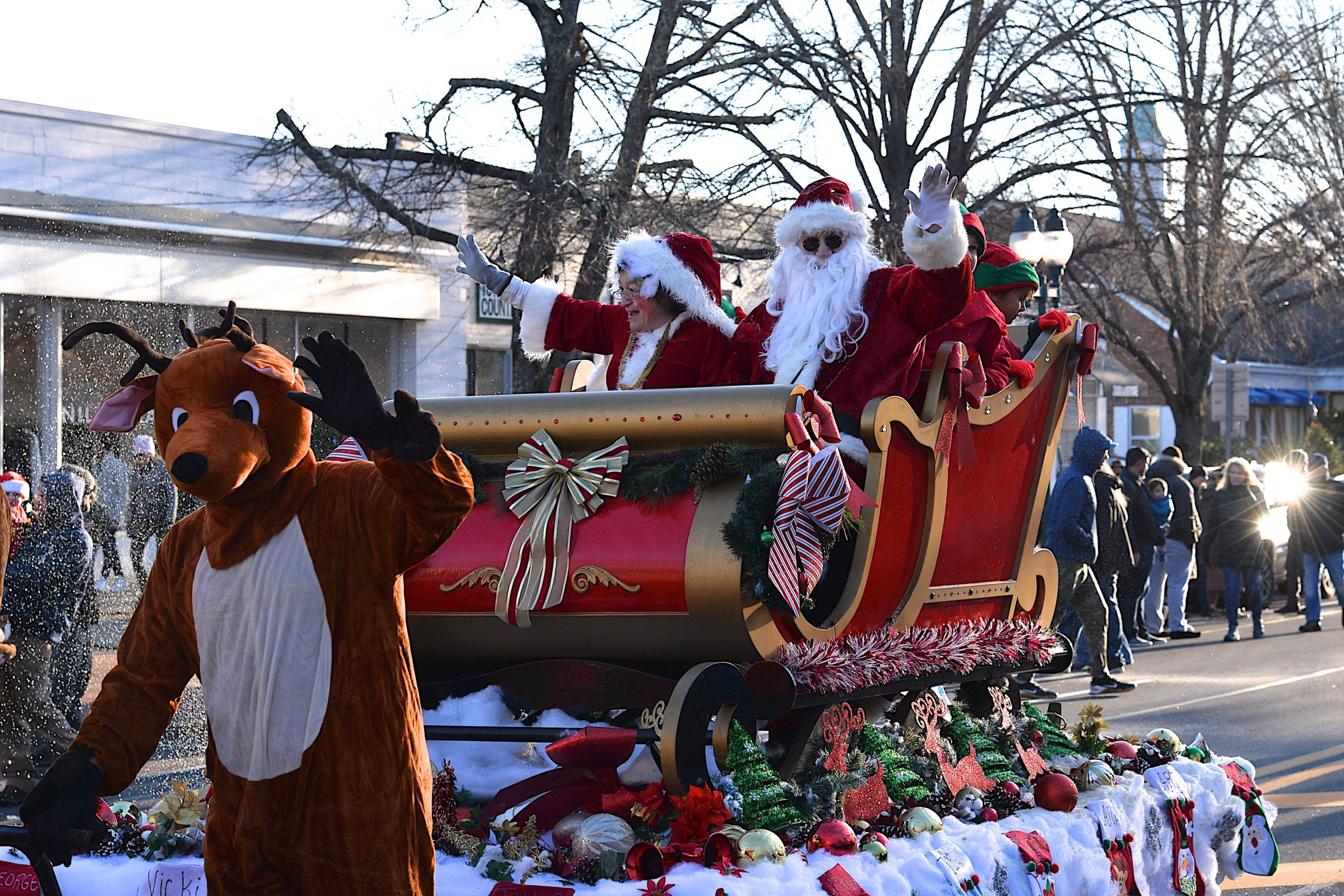 The holiday spirit was on full display Saturday afternoon as the annual Santa parade made its way through East Hampton's Main Street. KYRIL BROMLEY