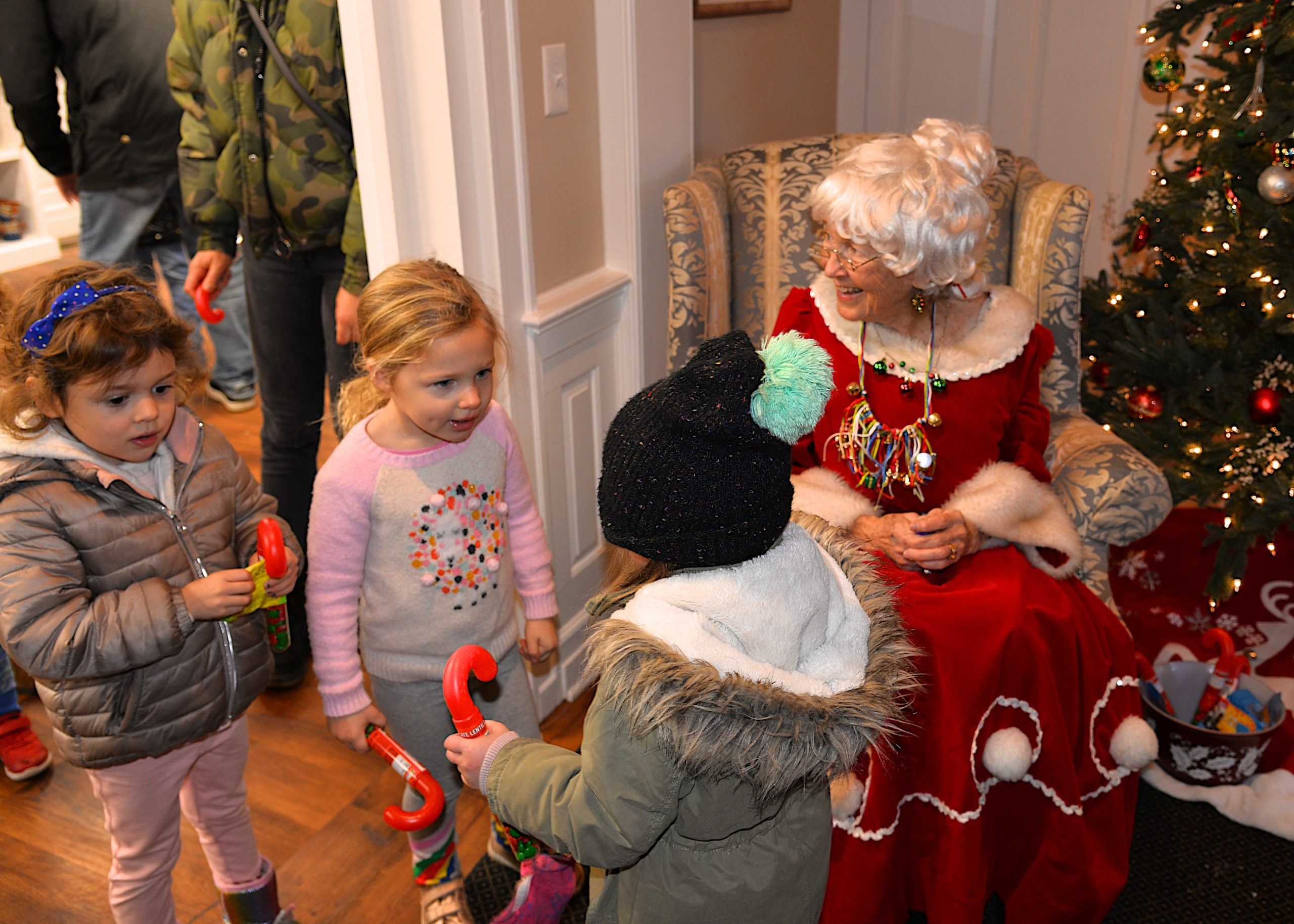 Mrs. Claus was at the East Hampton Ladies Village Improvement Society to greet young visitors during its open house on Saturday. KYRIL BROMLEY