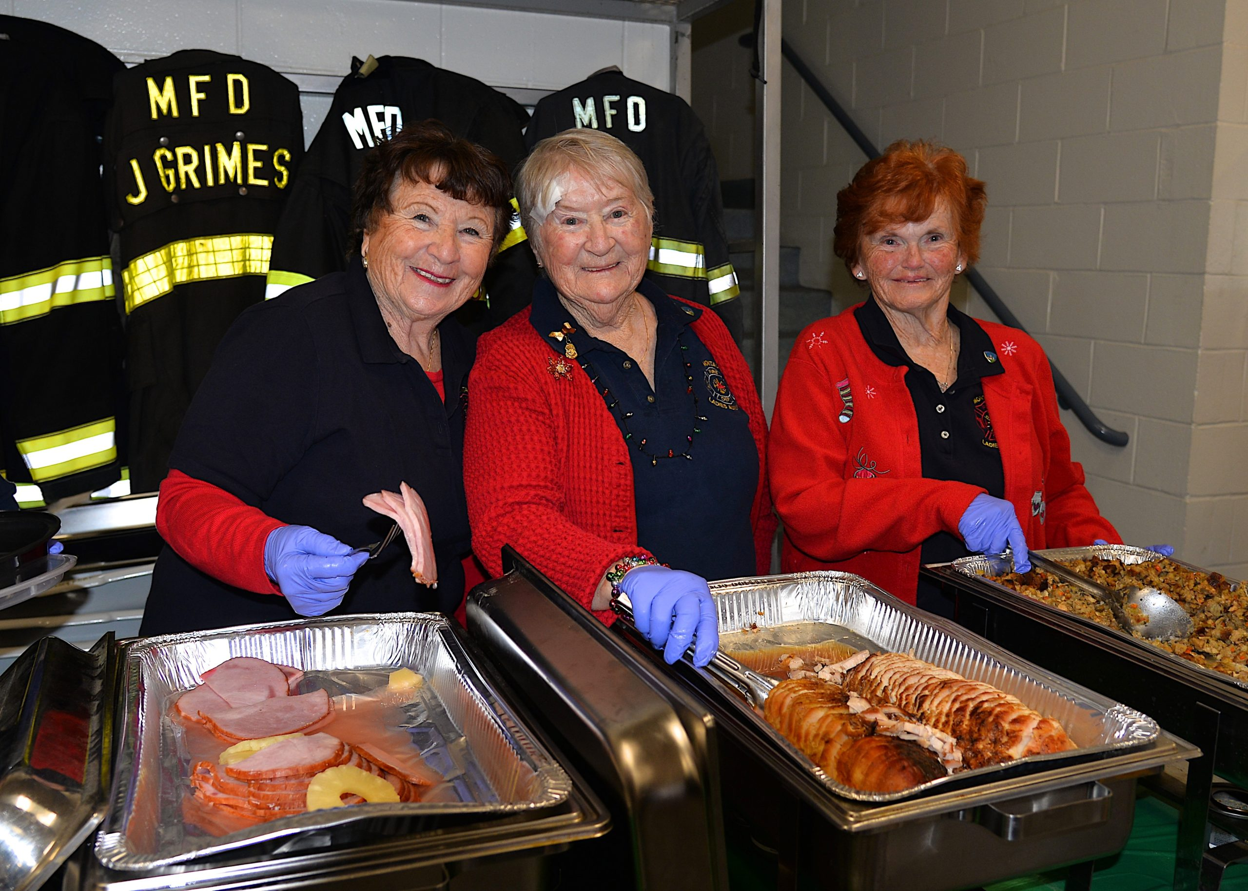 The Montauk Fire Department hosted its annual holiday dinner for senior citizens on Sunday. KYRIL BROMLEY