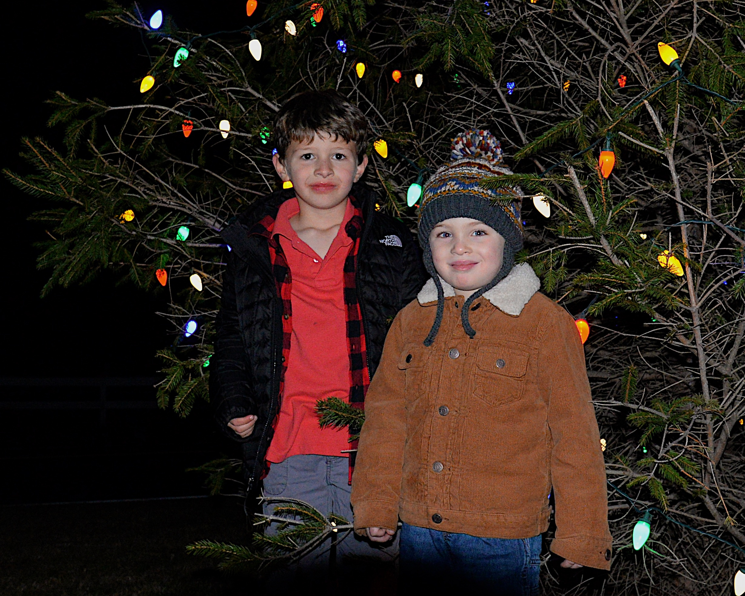 Lucca Trentacoste and Landon Sireci, right, were among those attending the Lights Of Love holiday gathering at Ashawagh Hall on Sunday. KYRIL BROMLEY