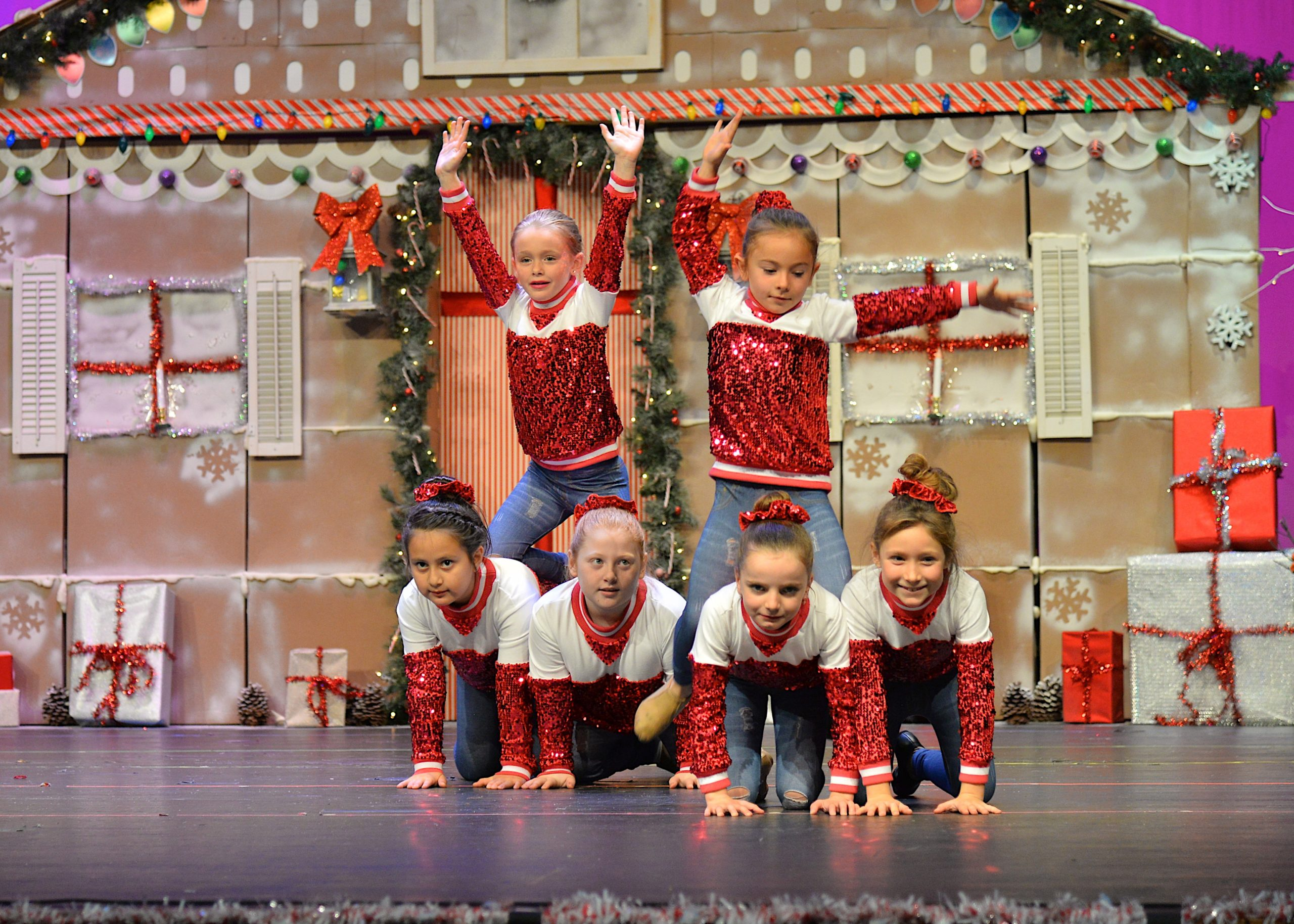 Students from Creative Edge Dance Studio performed in a Holiday Spectacular at the East Hampton High School auditorium on Saturday.  KYRIL BROMLEY