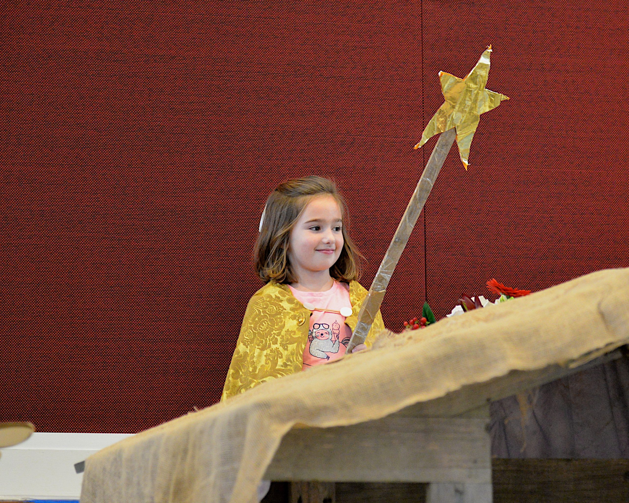 The spirit of Christmas was on full display during the children's pageant at the East Hampton Presbyterian Church on Sunday. KYRIL BROMLEY