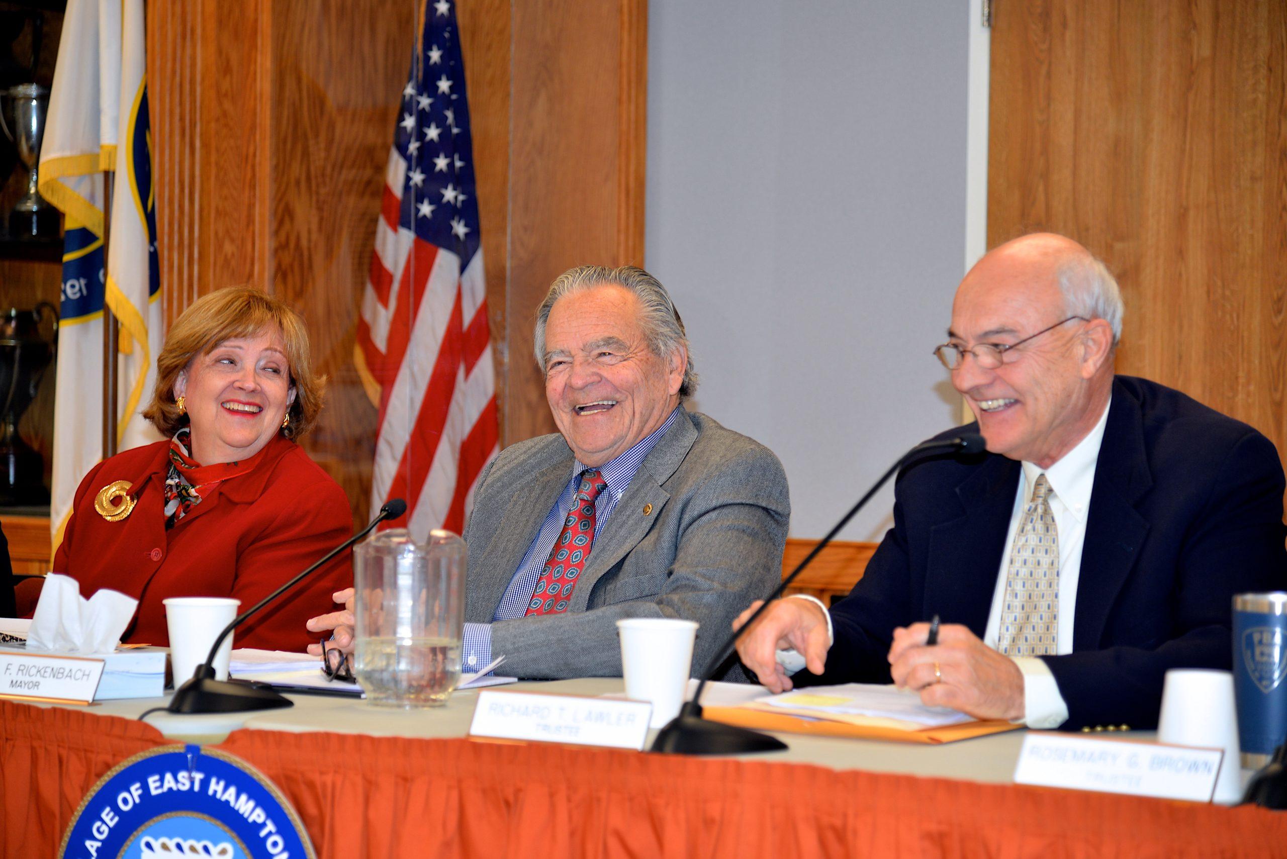 Barbara Borsack, Paul Rickenbach Jr. and Richard Lawler   KYRIL BROMLEY