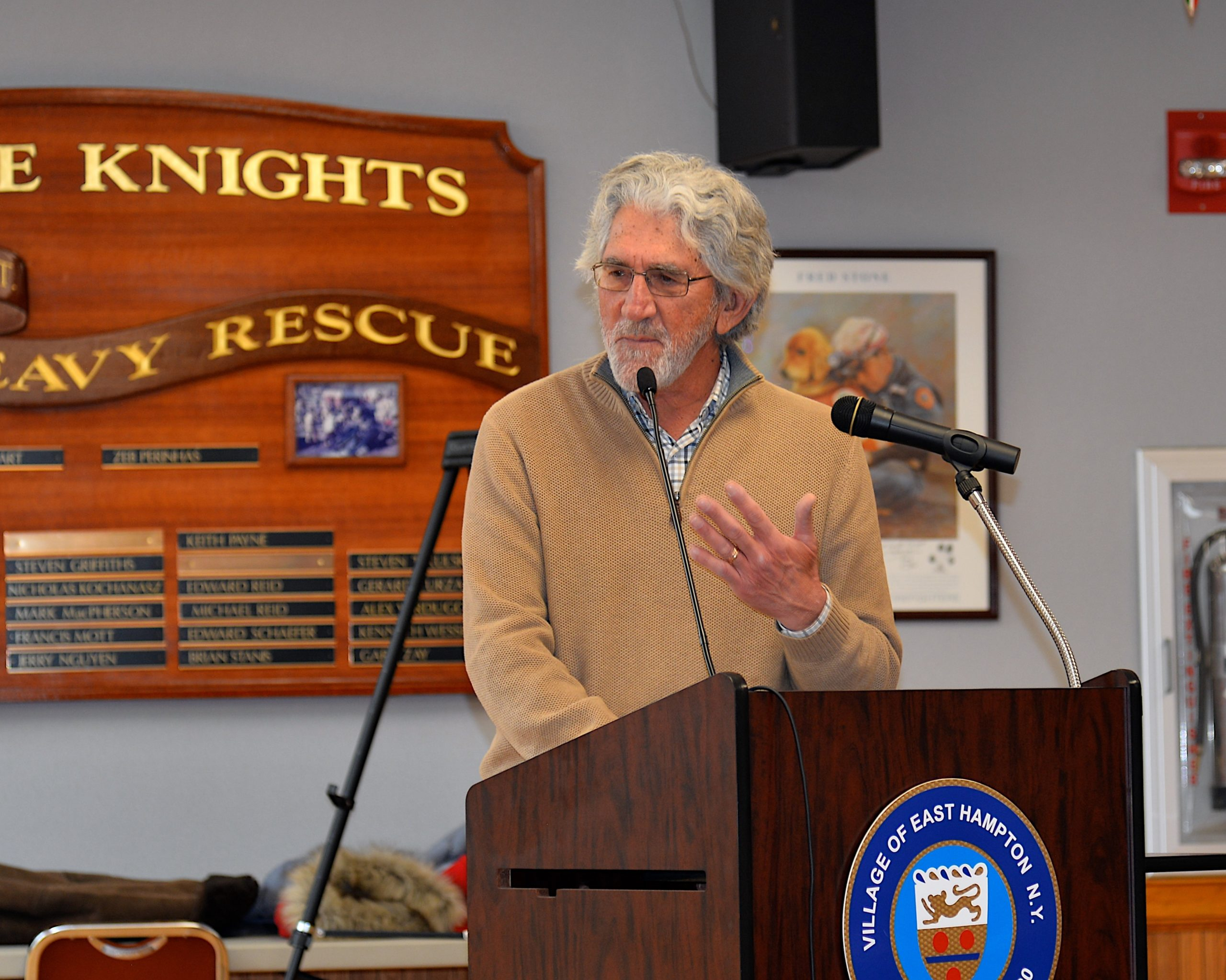 Larry Cantwell, a longtime village administrator who said he had a