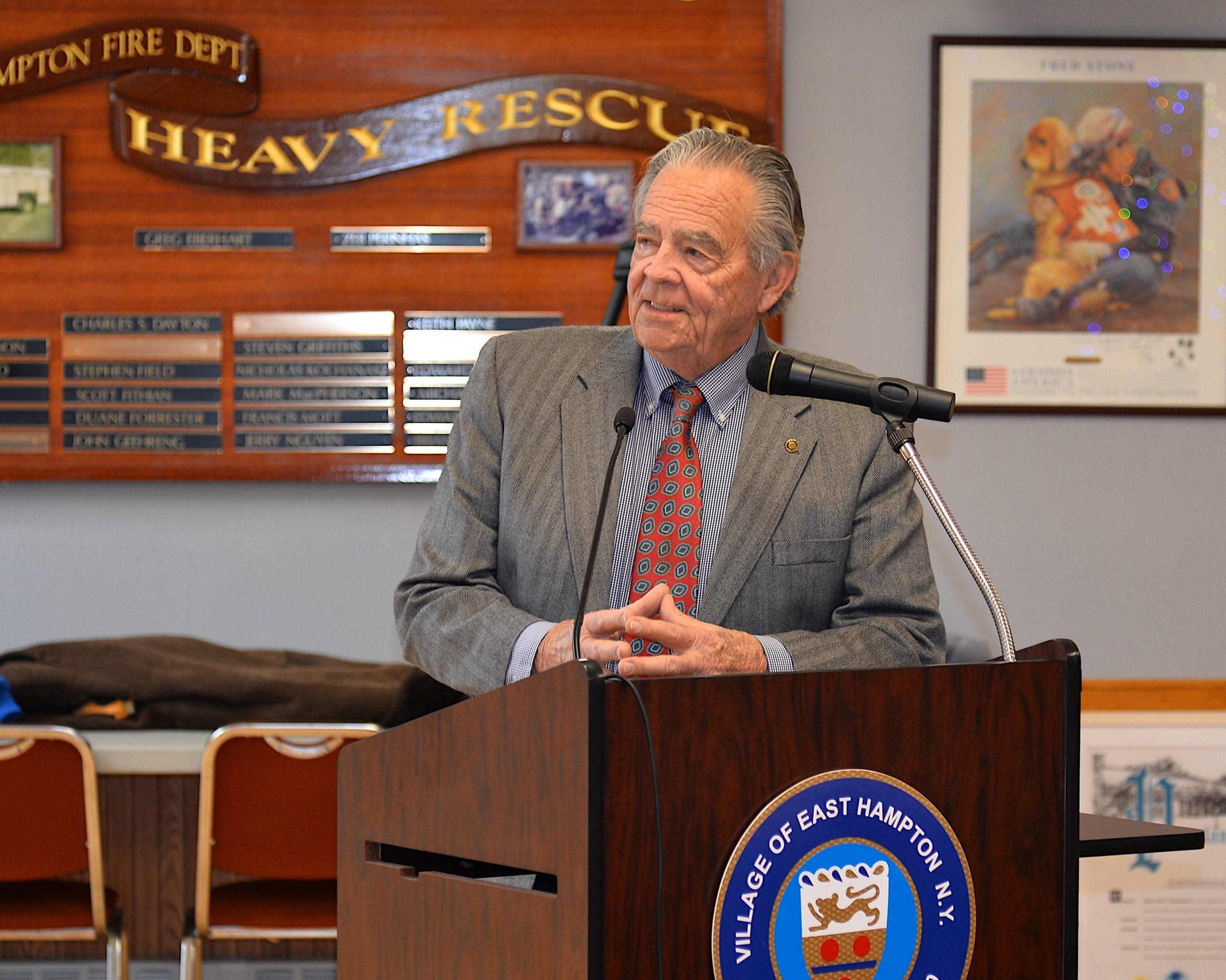 East Hampton Village Mayor Paul F. Rickenbach Jr.     KYRIL BROMLEY