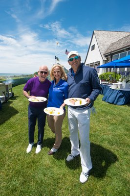 Marty Hackel of Golf Digest with Ann Liguori and Scott Vallary​. DANIEL GONZALEZ