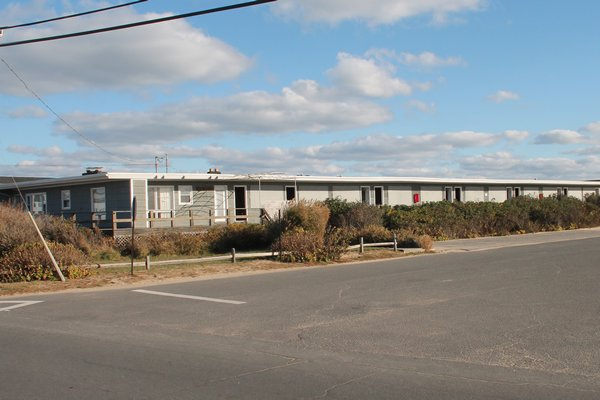 The East Deck Motel's owners have proposed tearing it down and building four homes on the Ditch Plains oceanfront. KYRIL BROMLEY