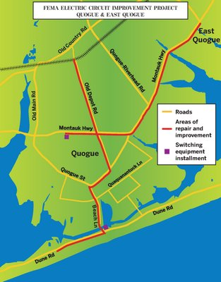 FEMA project route for electric circuit improvement