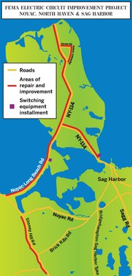 FEMA project route for electric circuit improvement.