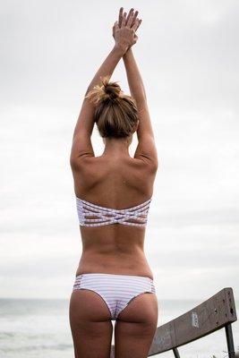 Ariana Jasuta modeling the Kaileigh Swimwear Collection. GRANT MONAHAN