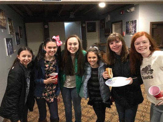 Thea and her Gateway classmates celebrated with a party at Gateway in April 2018. COURTESY THEA FLANZER