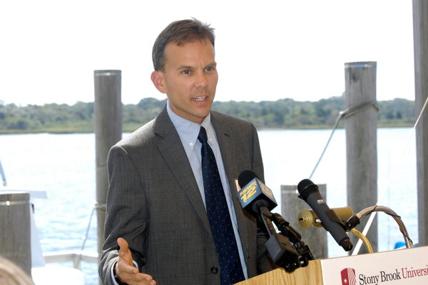 Chris Gobler was tapped to be part of a State initiative to investigate the effects of ocean acidification. PRESS FILE