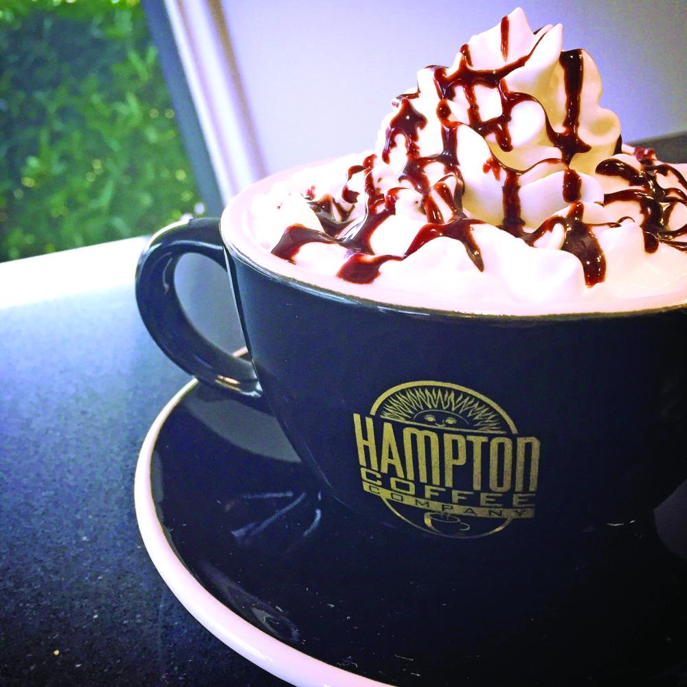 Hot chocolate at Hampton Coffee