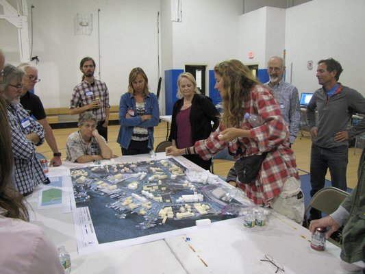 Consultants and Montauk residents explored a wide range of future possibilities and hurdles for Montauk during the four days of the hamlet study charettes last week. Michael Wright