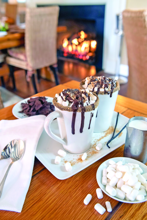 Hot chocolate, as prepared by chef Michael Rozzi at the 1770 House in East Hampton, on October 29, 2019.