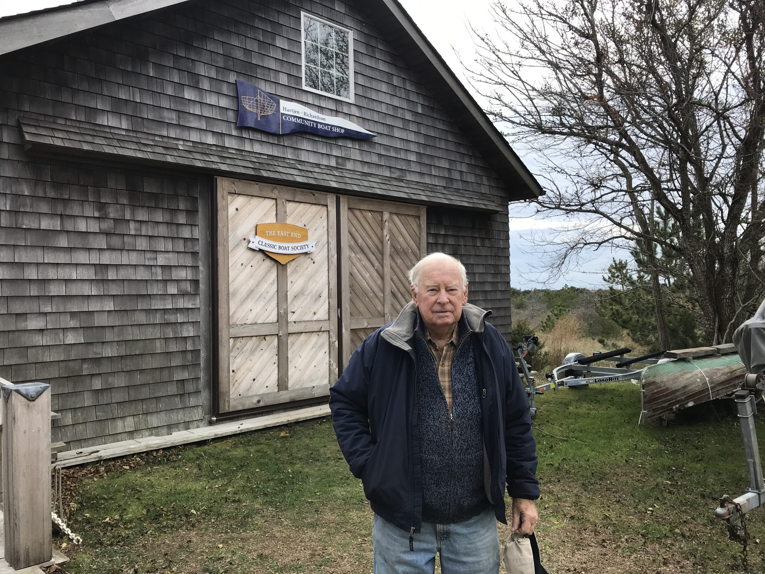 Ray Hartjen of the East End Classic Boat Society is spearheading an effort to bring the whale back to Amagansett. ELIZABETH VESPE