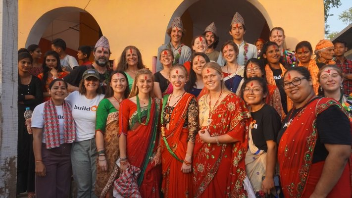 The East Hampton High School BuildOn trip. The students went to Nepal to build a school house.   COURTESY WILLIAM BARBOUR