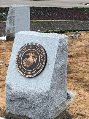 The United States Marine Corps plaque at the Arma