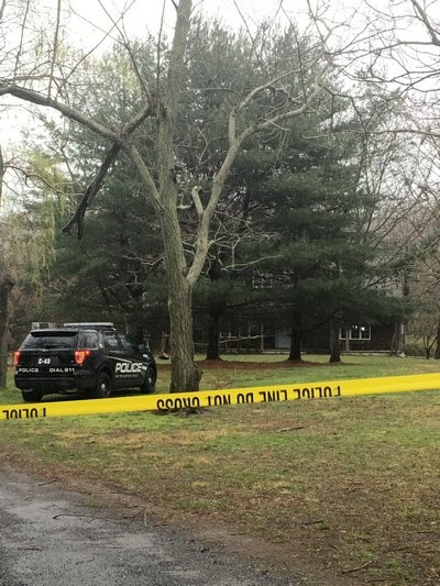 Southampton Town Police and the Suffolk County Medical Examiner were investigating a death in a house at 36 Payne Avenue in North Haven on Monday. ALISHA STEINDECKER