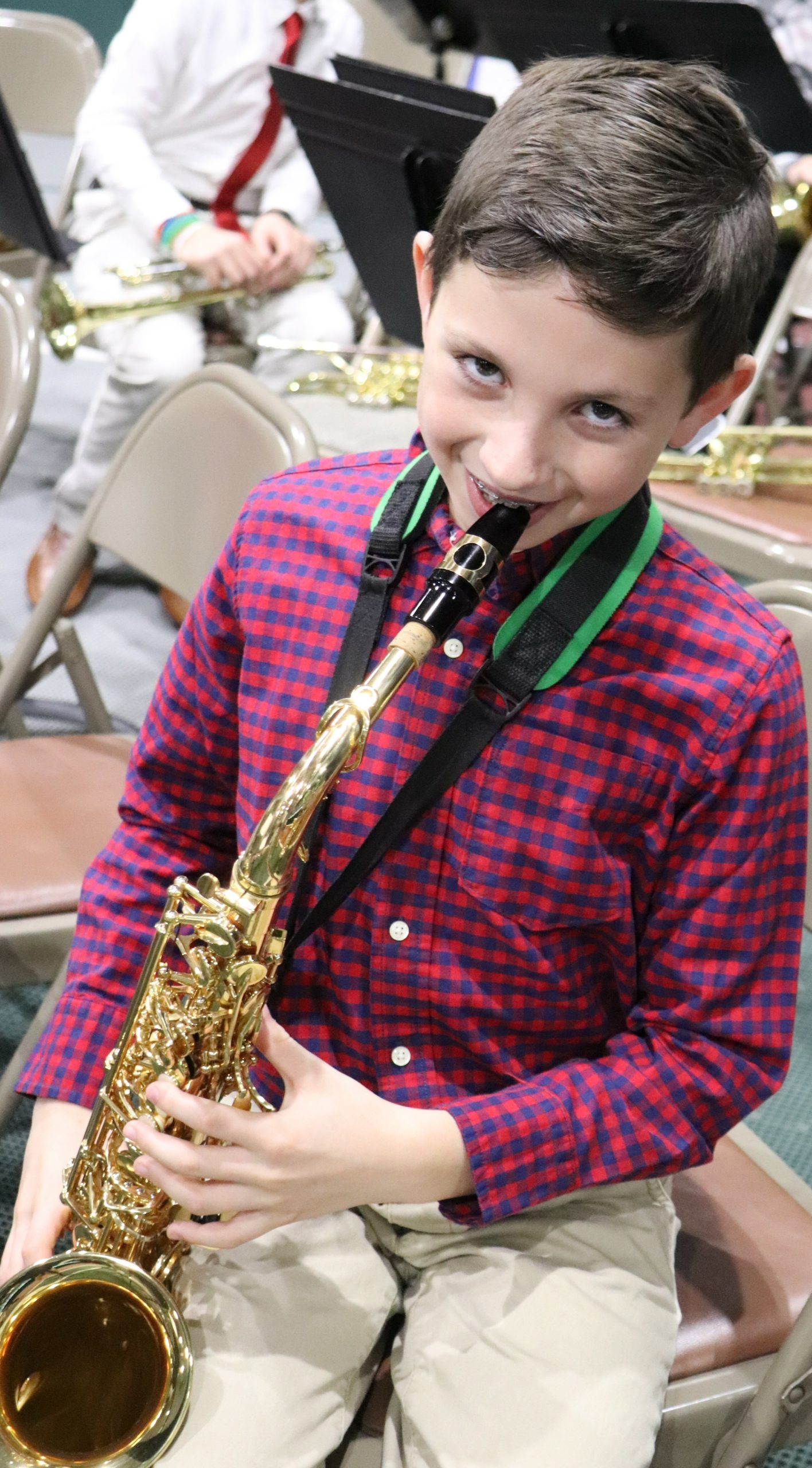 Raynor Country Day School hosted its annual Winter Concert for students in fourth- through sixth-grade. During the event, the senior band, jazz band, senior chorus, the ukulele ensemble and piano soloists performed. Dan Schumacher ready to perform.