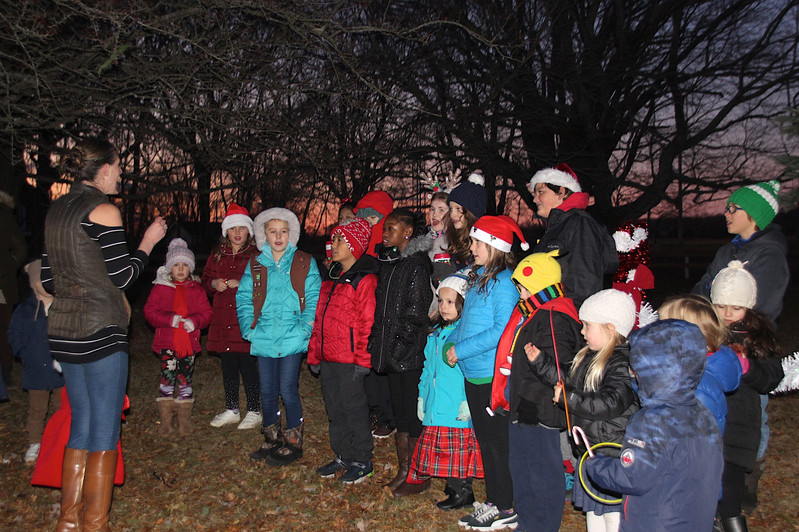 There were carols and cheer at the tree lighting party at the Amagansett Fire Department on Saturday. KYRIL BROMLEY