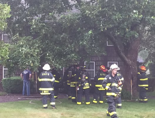 Bridgehampton firefighters Contained a fire at an historic house on Sagaponack Main Street Sunday morning.
