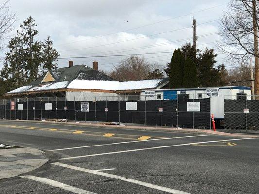 The Long Island Rail Road station in East Hampton Village