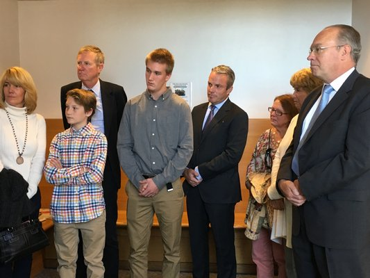 The family of Paul Hansen at Wednesday's sentencing.