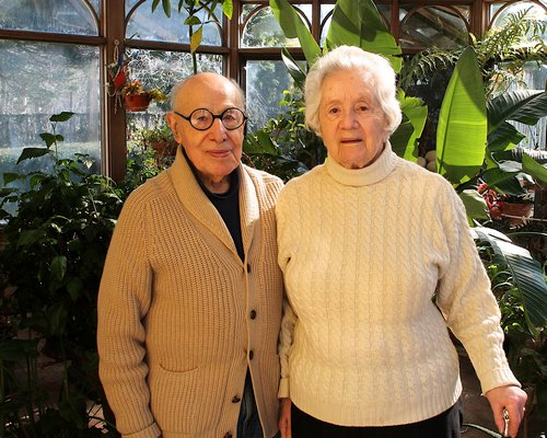 Gerson and Judith Lieber at their home in Springs. KYRIL BROMLEY