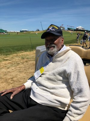 Lubin Hunter at the U.S. Open Championship on Tuesday.   CAILINE RILEY