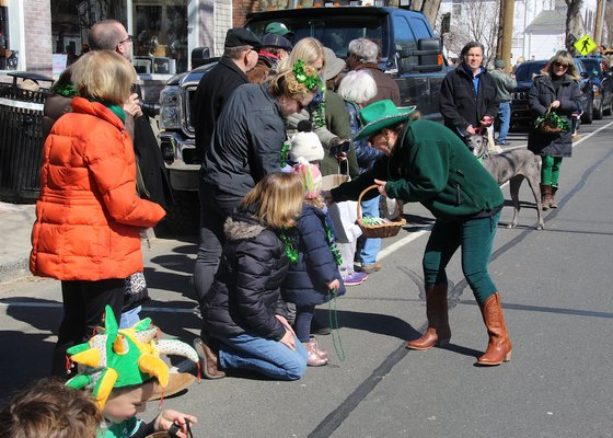 The all-too-brief Am O'Gansett St. Patrick's Parade was held under clear skies on Saturday. KYRIL BROMLEY