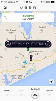 Riders will no longer be able to access Uber cabs in East Hampton Town.