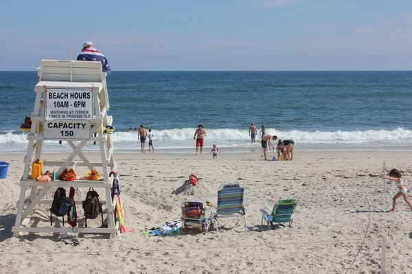 The Quogue Village Beach on Tuesday afternoon. VALERIE GORDON