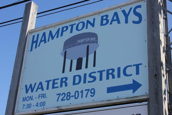 The Hampton Bays Water District. VALERIE GORDON