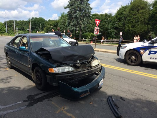 A man driving a Honda Accord fled after he crashed into a Toyota Tacoma pickup truck on Friday morning. LAURA WEIR