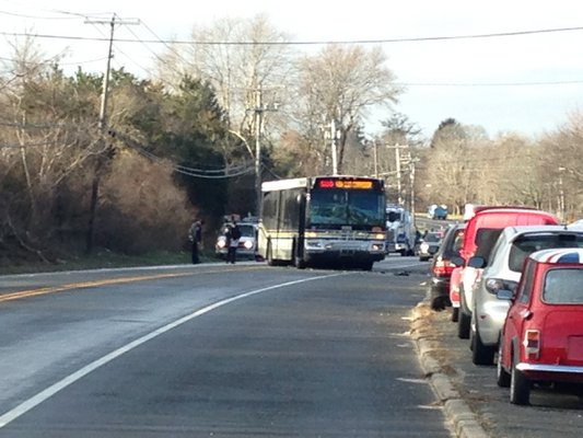 An accident involving a transit bus early Friday morning left several injured