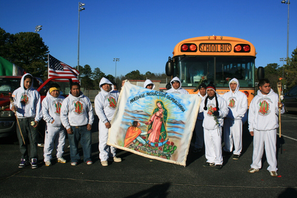 There were about 50 people who showed their devotion to Mary on Saturday
